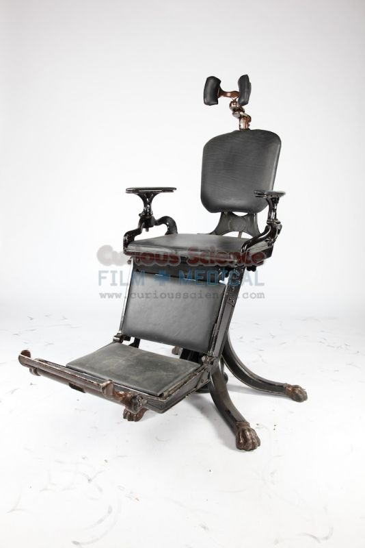 Period dental chair - Period Dental Chair Antique Dental Props