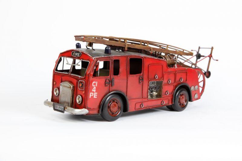 Vintage toy fire trucks has