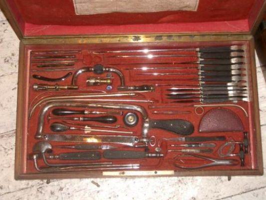 Huge 19th C Surgeons Set Antique Surgical Instruments