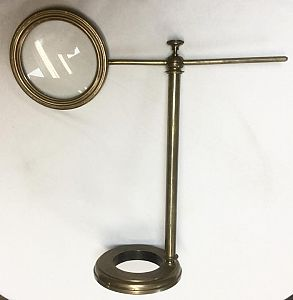 Brass Cantilever Magnifier.