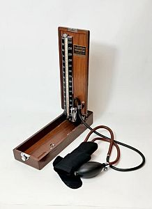Period Sphygmomanometer (Blood Pressure) Wooden Case