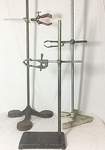 Metal Retort Stand & Clamp (priced individually)