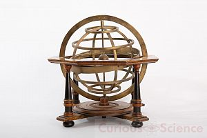 Wood And Brass Armillary Sphere