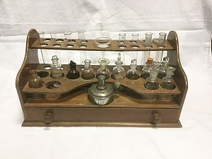 Vintage Wooden Laboratory Stand