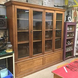 Large Wooden 4 Door Bookcase