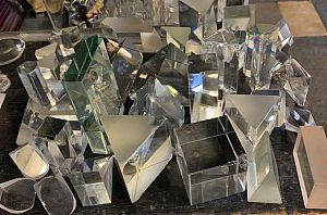 Glass prisms assorted