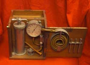 Antique Medical Pump With Pressure Gauge