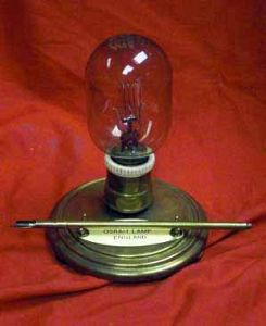 Vintage Desk Pen Set In The Form Of An Early Osram Light Bulb