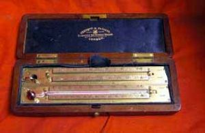 Antique Pocket Set Of Cased Maximum And Minimum Thermometers, By Negrettii & Zambra