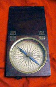 Antique Compass In Folding Case