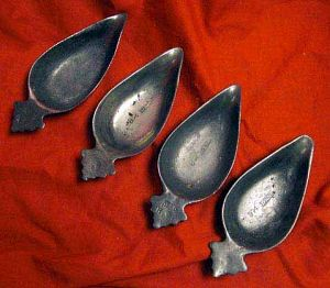 Antique Pewter Pap Boats