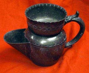 Antique Pewter Shaving Mug