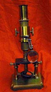 Antique Brass Microscope With Bulls Eye Condenser
