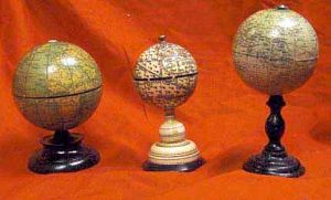 Set Of Antique Miniature Globes