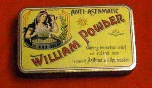 Antique Medicine Powder In Tin Case