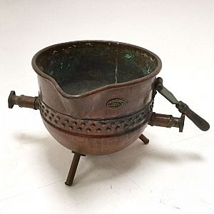 Large copper crucible