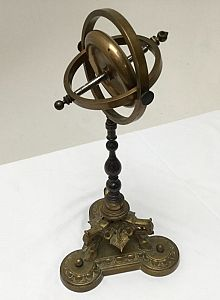 Gyroscope on ornate stand