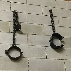 Wrought iron manacles