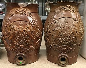 Pair of naval rum kegs
