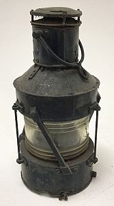 Vintage masthead navigation light.