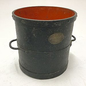 Large iron measuring bucket