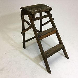 Small wooden stepladder