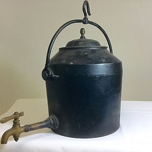 Large iron kettle