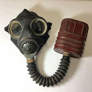 British WW2 gas mask