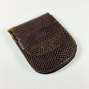 Snakeskin leather pouch