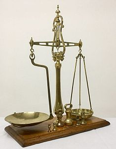 Decorative brass scales