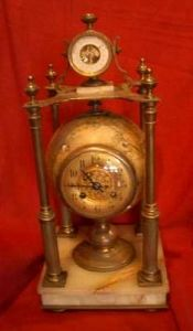 Unusual globe clock, 19th century