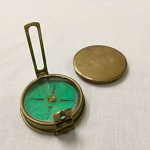 Surveyors Compass in Brass Case