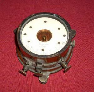 Wood cased galvanometer
