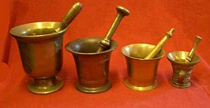 Brass Pestle and Mortars