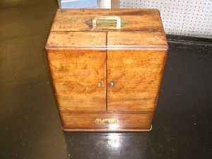 Mahogany Medicine Chest 19th C