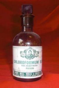 Chloroform Bottle c1890.