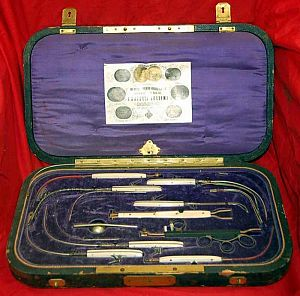 Antique Cautery Medical Set