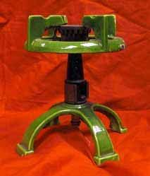 Old Laboratory Gas Burner, Enamelled