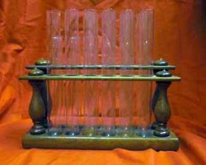 Antique Tiered Double Test Tube Rack