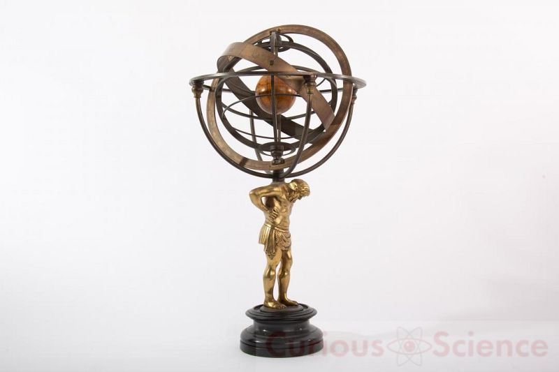 Armillary Sphere With Atlas Base