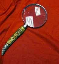Old Library, Magnifying Glass With Horn Handle