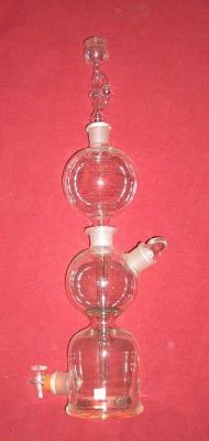 Kipps apparatus with thistle stopper