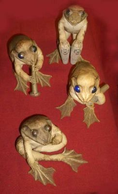 GROUP OF STUFFED TOADS