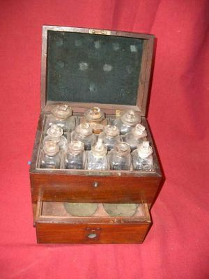 Mahogany Medicine Chest